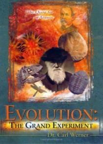 Evolution: the Grand Experiment book cover by Carl Kerby